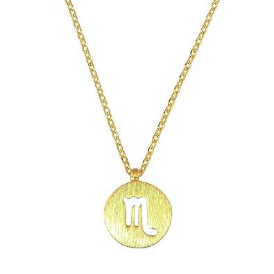 Amazoncom Womens Scorpio Zodiac Necklace Dainty Scorpio Necklace
