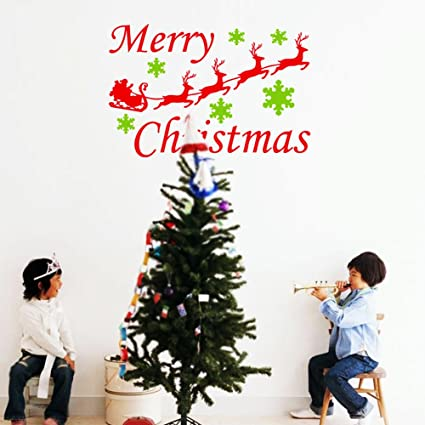 store homer removable merry christmas quotes wall stickers house decoration wallpaper diy wall stickers