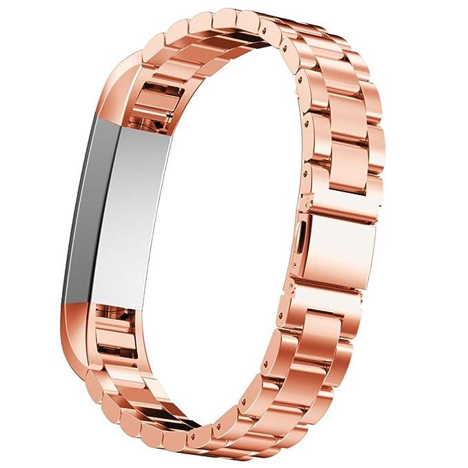 2 opinioni per Fitbit Alta- Cinturino di ricambio in acciaio inox IVSO, per smartwatch classico