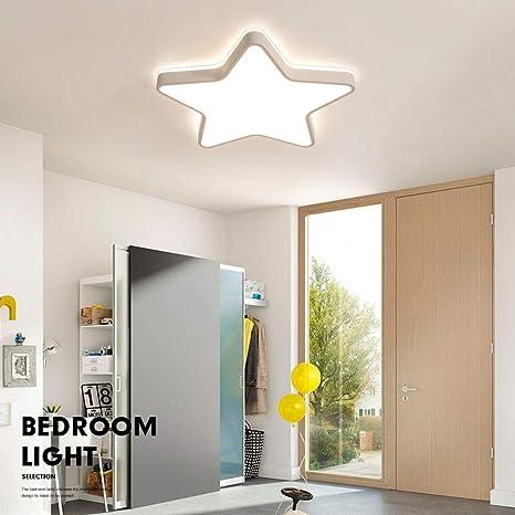 Moderna Infantil Plafón de techo 36W LED Regulable Lámpara de techo Forma de estrella diseño romántica luz de Techo habitación niños sala de estar Dormitorio Sala de juegos Iluminación de techo, ∅45cm: