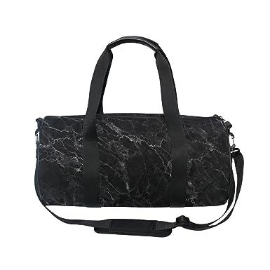 ALAZA Stylish Black Marble Sports Gym Duffel Bag Travel Luggage Handbag for  Men Women 04369c2e8