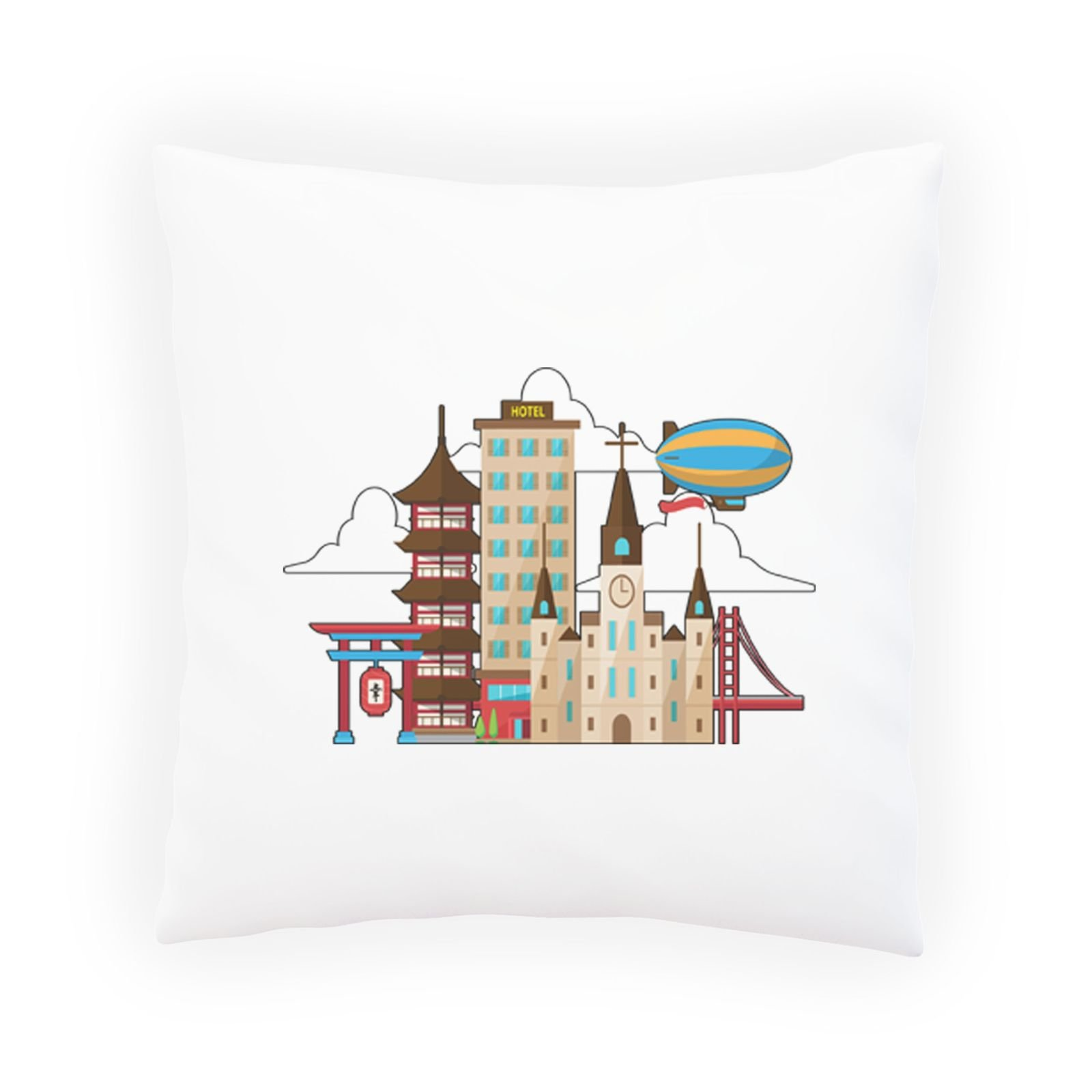 Hotel Luggage Travel World Decorative Pillow , Cushion cover with Insert or Without o842p