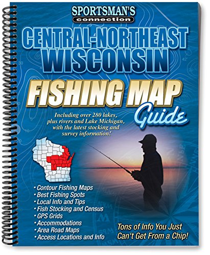 Wisconsin Fishing Maps - Central-Northeast Wisconsin Fishing Map Guide