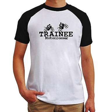 amazon trainee motocrosser ラグラン tシャツ tシャツ カットソー 通販