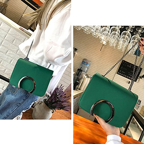 green Chain Clutch Bag Adealink Leather Crossbody Fashion Causal Bags Women Shoulder C Travel Korean Messenger Ladies Handbag Letter nCCfwqT4