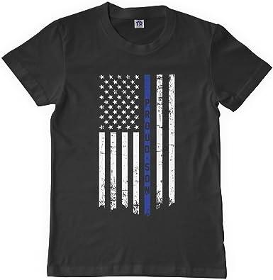 Threadrock Little Boys Proud Son Thin Blue Line Flag Toddler T-Shirt