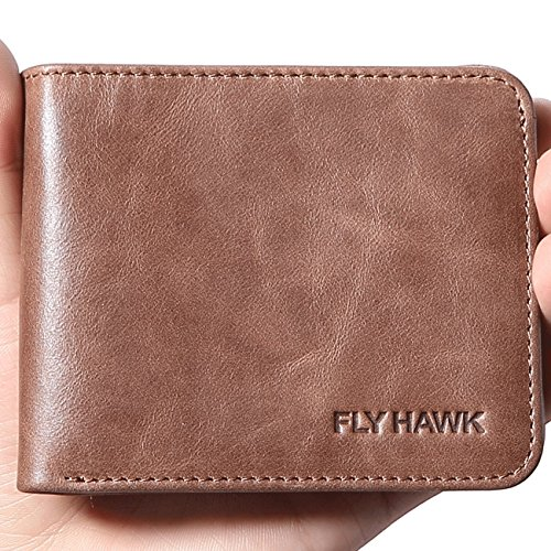 FlyHawk RFID Blocking Genuine Leather Wa - Usa Genuine Wallet Shopping Results