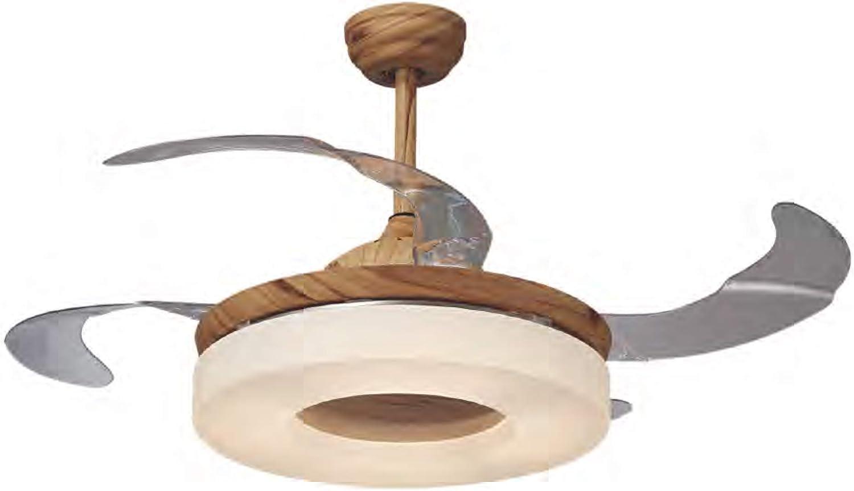 Ventilador de techo JUERIC con LED OLSON metal y madera con mando ...