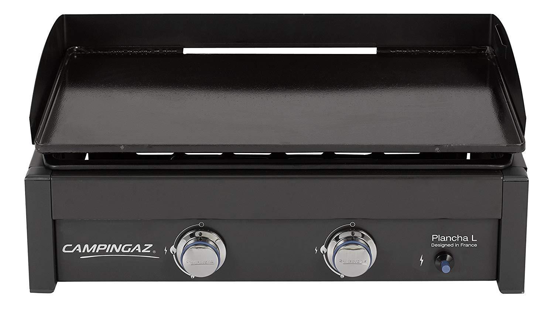 Campingaz Plancha L - Plancha de gas con dos quemadores de acero aluminizado, 7.5 kW de potencia, placa de cocina Teppanyaki + Campingaz 2000025697 ...