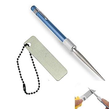 Quici Mini bolsillo Diamond retráctil cuchillo afilador de ...