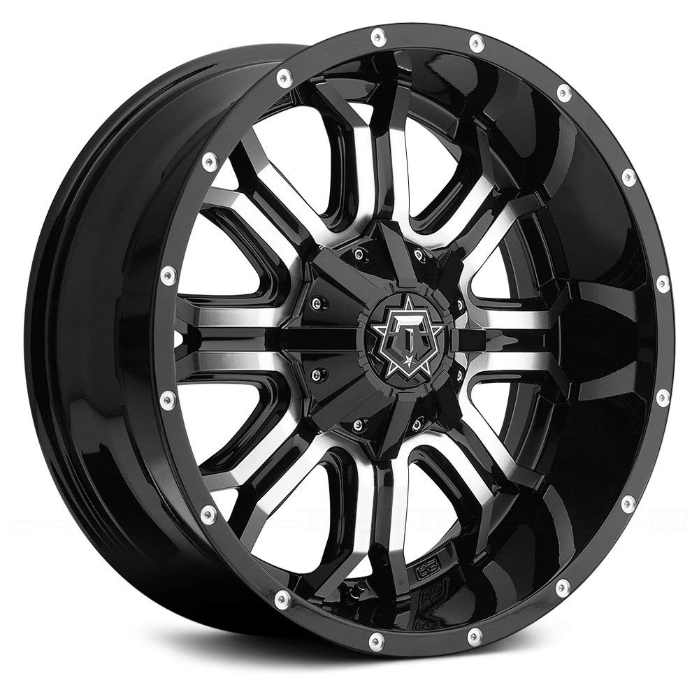 TIS 535MB 20x12 5x139.7/5x150 -44mm Black/Machined Wheel Rim