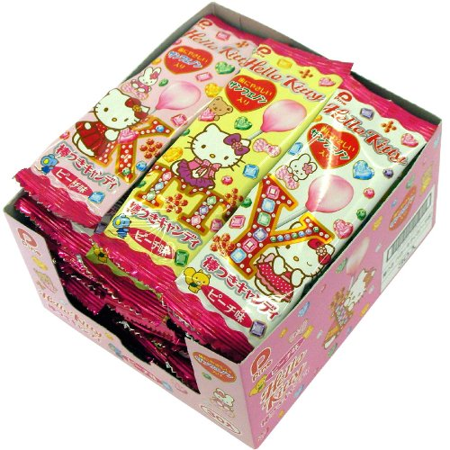 Pine lollipops Hello Kitty (peach flavor) 30 lines Hello Kitty Lollipops