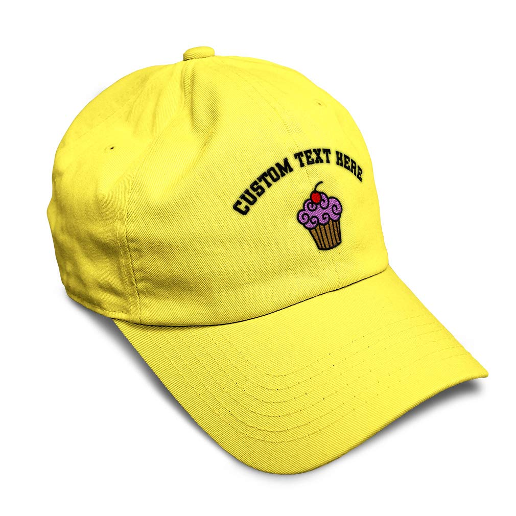 Custom Soft Baseball Cap Strawberry Frost Cupcake Embroidery Twill Cotton