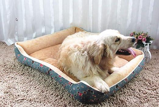 Wuwenw Gran Cama para Perros Perrera Almohadilla Suave Toalla para Mascotas Almohadones para Mascotas Perrito Cama Caliente Perrera Acogedora Perrera para ...