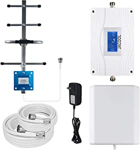 Verizon AT&T Cell Phone Signal Booster Dual 700MHz Band 13/12/17 Cell Phone Booster Amplifier 4G LTE Cell Signal Booster Repeater for Home Verizon ATT T-Mobile US Cellular - Support Multiple Users