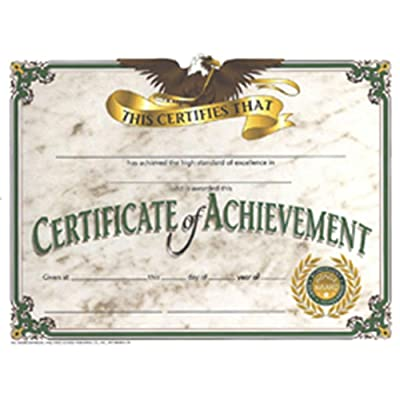 "Hayes Certificate of Achievement, 8.5"" x 11"", Pack of 30: Toys & Games"