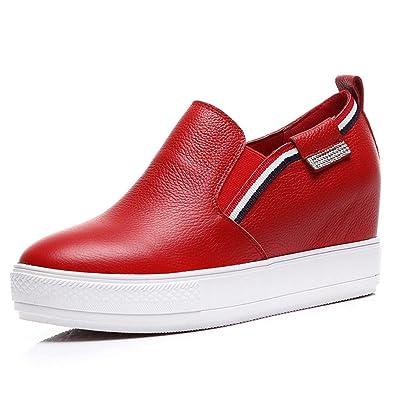 Vera Damen Moderne Anti-Rutsch Gummi Plateau Kurzschaft Slipper Ausgedehnte  Sneaker Keilabsatz Atmungsaktive Dicken Boden a228e42a0f
