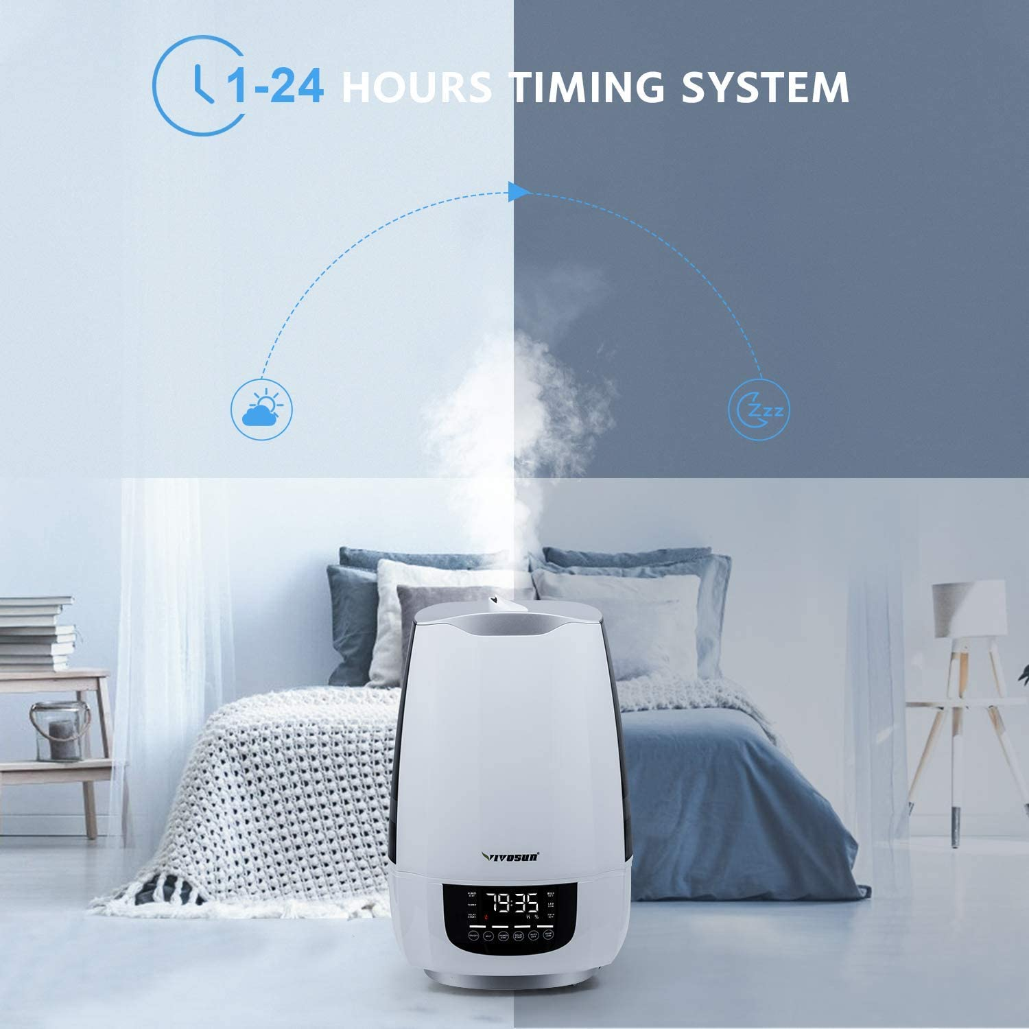 6L VIVOSUN pH and TDS Meter Combo Cool Mist Humidifier