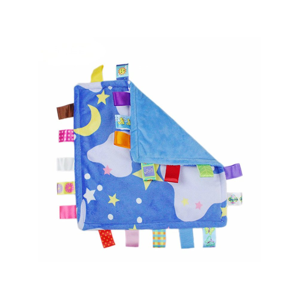 J&C Family Owned Blue Bedtime Night Sky Style Super Soft Lovey Baby Blanket by J&C Family Owned