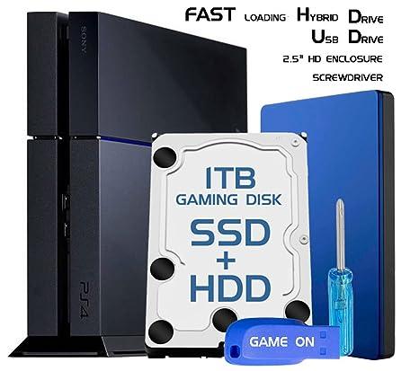 Skywin PS4 Slim alto rendimiento SSHD (SSD + HDD) Disco Duro 1 TB ...
