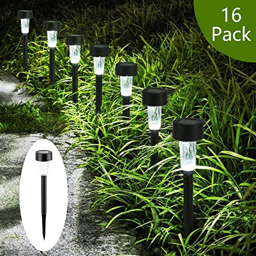GIGALUMI Solar Lights Outdoor Garden Led Light Landscape/Pathway Lights -16 Pack
