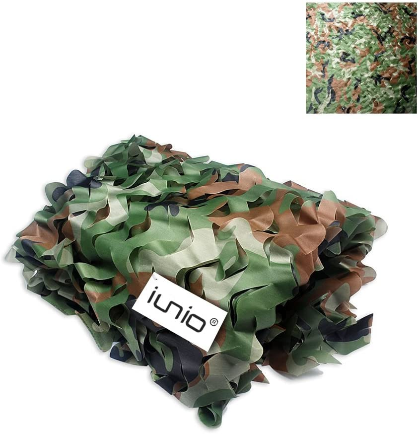 iunio Camo Netting, Camouflage Net, Bulk Roll, Mesh, Cover, Blind for Hunting, Decoration, Sun Shade, Party, Camping, Outdoor : Sports & Outdoors