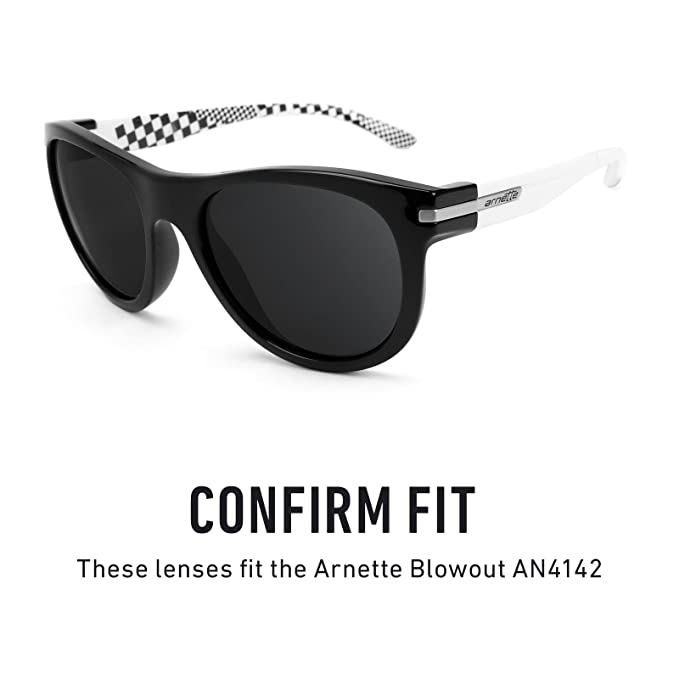 ec7667d714 Amazon.com  Revant Polarized Replacement Lenses for Arnette Blowout AN4142  Elite Black Chrome MirrorShield  Sports   Outdoors