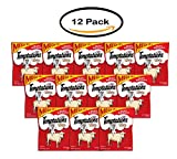 PACK OF 12 - TEMPTATIONS Classic Treats for Cats Hearty Beef Flavor 6.3 Ounces