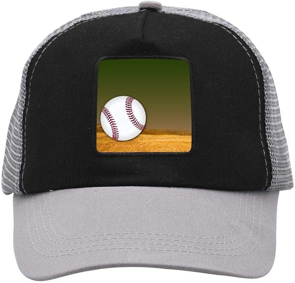 Decorative Baseball Mesh Caps Adjustable Unisex Snapback Trucker Cap