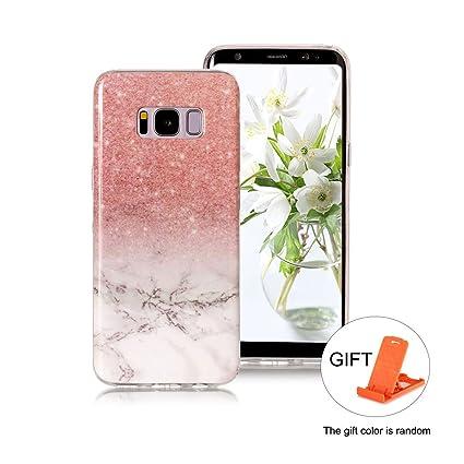 Funda para Samsung Galaxy S8 PLUS Wanxida Patrón Piedra Mármol Funda de Silicona TPU Carcasa Soft Clear Cover Funda Blanda Delgada Carcasa Suave ...