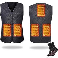 RAIN QUEEN Chaleco calefactor USB eléctrico para invierno, para motocicleta, camping, pesca, esquí