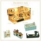 DIY Dollhouse Miniature Kit with Furniture, 3D