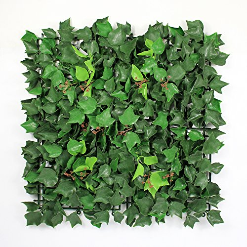 Artificial Ivy Fence Mat, Greenery Ivy Hedges Privacy Fence Screening, Home Outdoor Wall Wedding Decorations, 12pcs 20''x20'' by ULAND