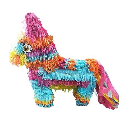 Toyvian Piñata de arcoíris Burro Juguete de azúcar Beat ...