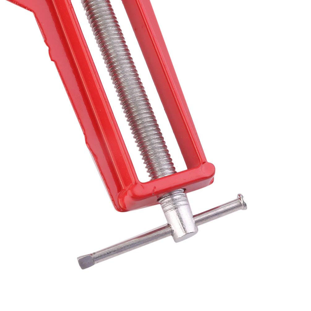 Professionelle 90 Grad rechtwinklige Bilderrahmen Eckklemmhalter Holzbearbeitung Hand Kit breiterstehen h/öhere Intensit/ät Kraft Rot /& Silber