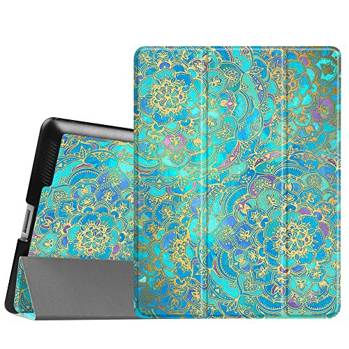 Smart Cover Case for Apple iPad 2/3/4 (Blue) - 8