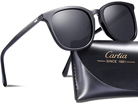 dae68bc56b Carfia Vintage Polarized Sunglasses for Women UV400 Protection Lens Acetate  Frame
