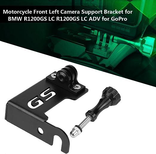 L Support SAEC . noir et Sliver Support Cam/éra avant gauche moto for BMW R1200GS LC R1200GS LC for GoPro volume moyen quotidien