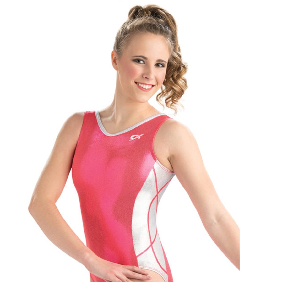 GK Elite Orangeade Shine Workout Leotard Child Medium CM by GK Elite