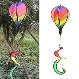hot air balloon wind spinners - Delight eShop Striped Rainbow Windsock Hot Air Balloon Wind Spinner Garden Yard Outdoor Decor