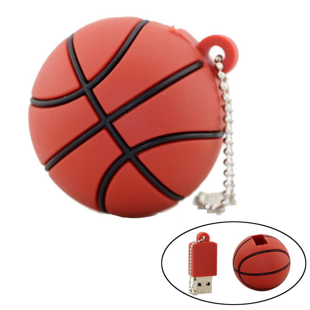 Pendrive USB Stick 128GB Cartoon Basketball Flash Drive USB 2.0 Memoria Flash Disk Pen Drive
