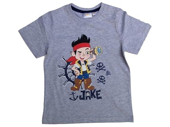 Jake und die Nimmerland Piraten T-Shirt grau