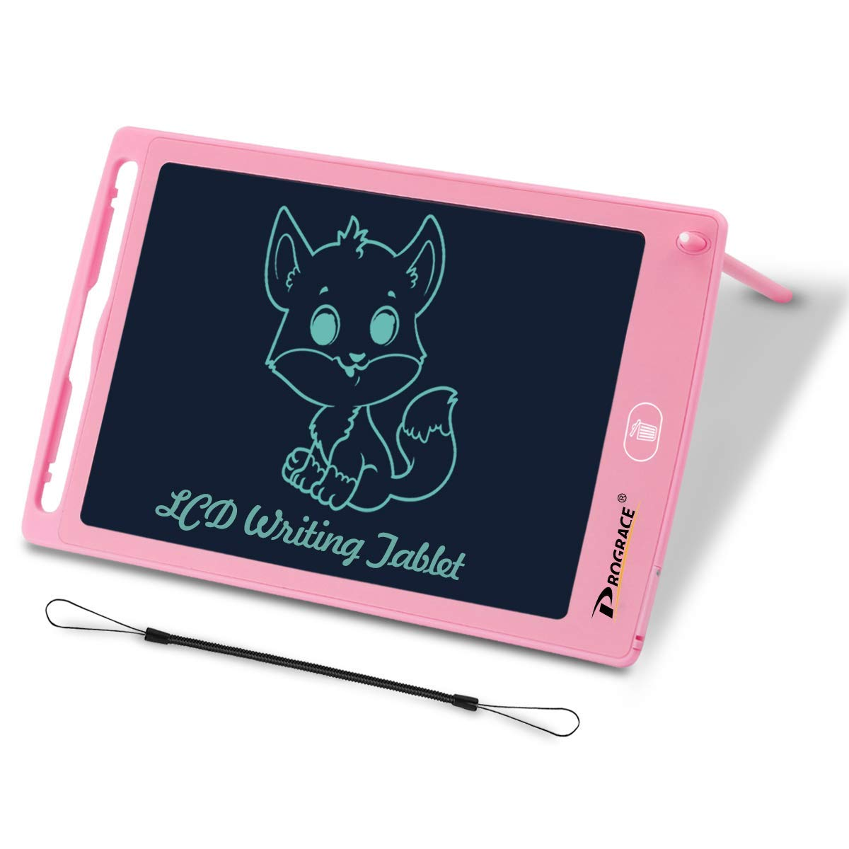 PROGRACE LCD Writing Tablet for Kids Learning Writing Board Magnetic Erase LCD Writing Pad Smart Doodle Drawing Board for Home School Office Portable Electronics Digital Handwriting Pads 8.5 Inch-pink