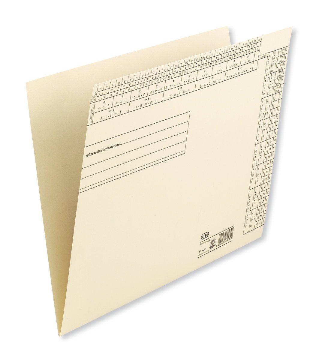 Elba 80434 Lot de 50 dossiers en suspendus en dossiers papier craft Chamois 883f6d
