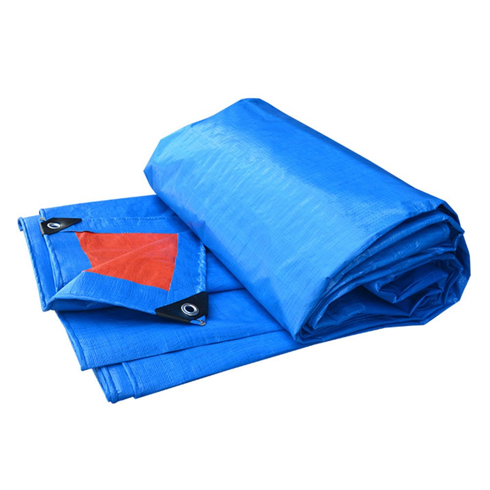DYFYMXOutdoor Ausrüstung Tarpaulin-Waren-Sonnenschutzisolierungsautoabdeckung regendichter Sonnenschutzisolierungantioxidant, Blau + Orange @