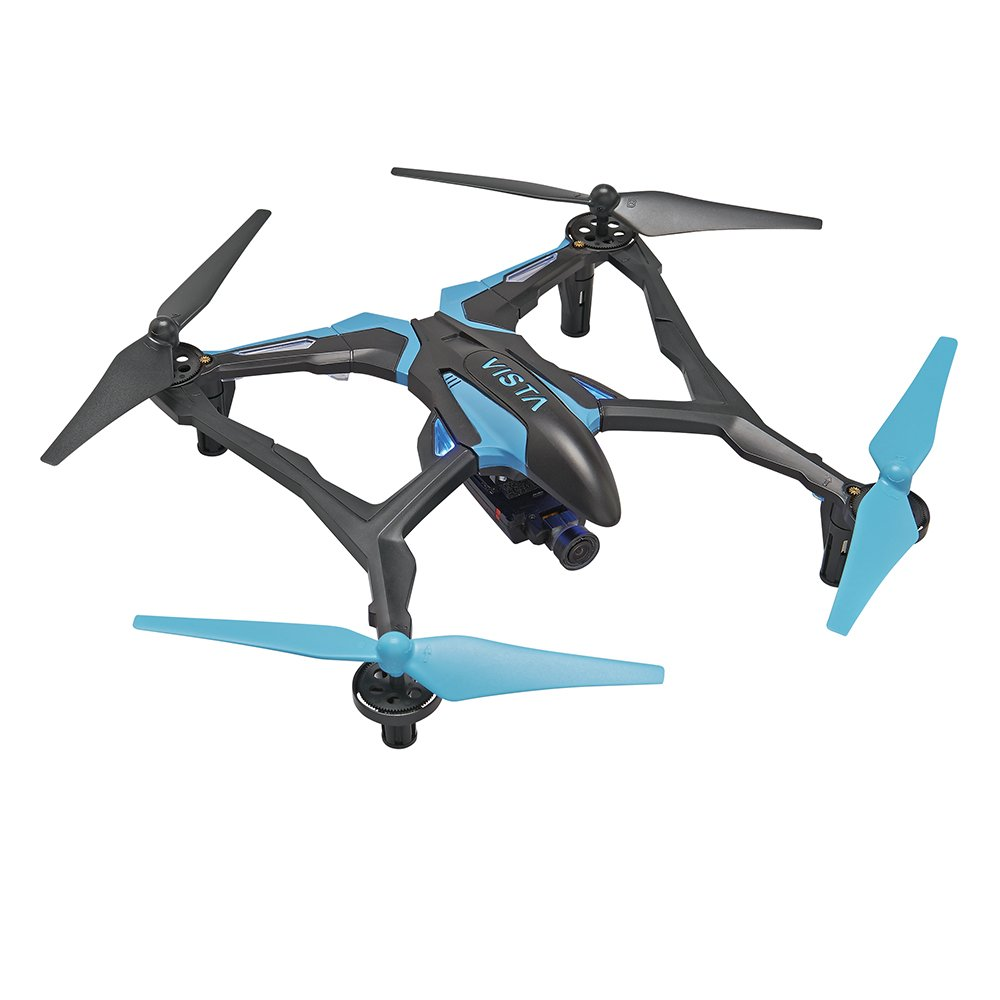 Dromida Vista FPV Ready-to-Fly 251 mm Electric Drone with Tactic DroneView 720p Wi-Fi Mini Camera, Radio, Micro Memory Card, Batteries and Charger (Yellow) DIDE04YY
