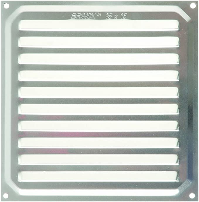 15 x 15 cm Brinox B70220Z Rejilla de ventilaci/ón Madera Oscura