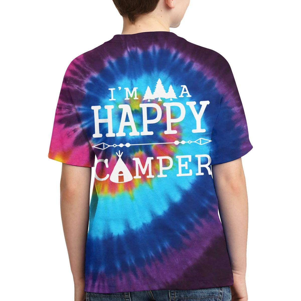 AMODECO Happy Camper 3D Printed Tee T-Shirt for Youth Teenager Boys Girls