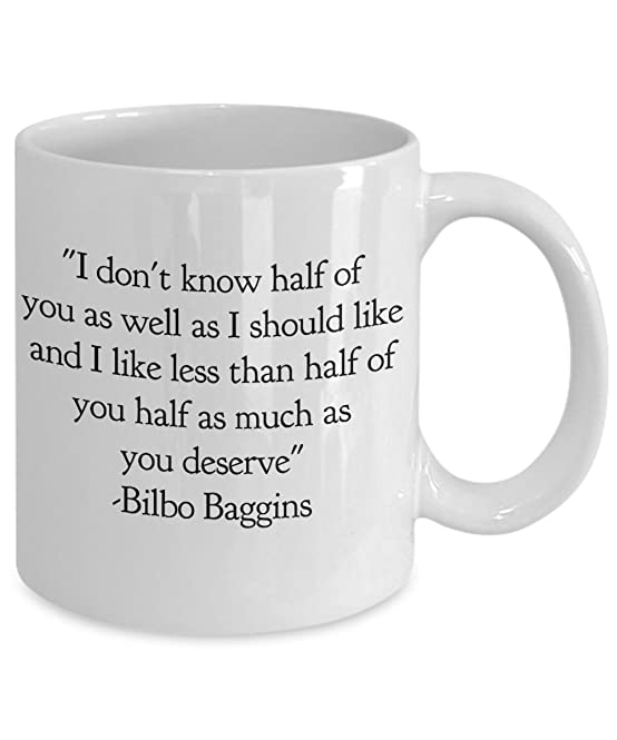 Amazon.com: Lord Of The Rings Coffee Mug   Bilbo Baggins Quote Cup Gifts:  Kitchen U0026 Dining