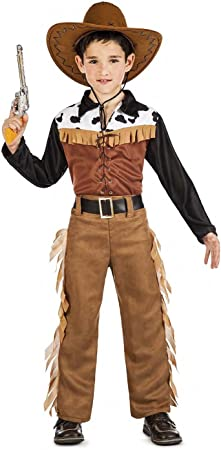 Kimokawaii Disfraz Vaquero Texas Talla 5-6 AÑOS TAMAÑO Infantil ...